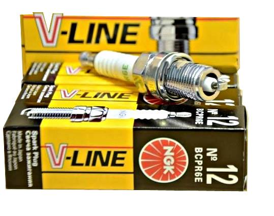Свечи  NGK V-Line №12 зазор 0,8  (инжектор 16 кл.) (BCPR6E) (6129)