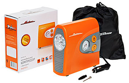 Компрессор AIRLINE MASTER-L в пласт корпусе с фонарем в сумке (30л/мин.,8атм) CA03013L