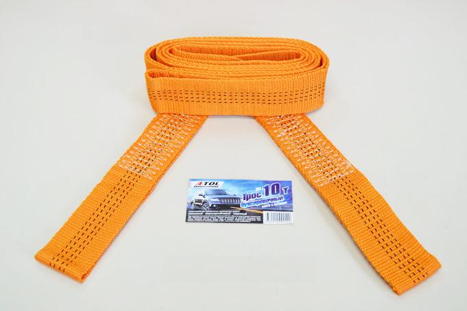 Трос буксировочный 10 т 2 петли, 5 метров, А-Тол в пакете (ТР030)