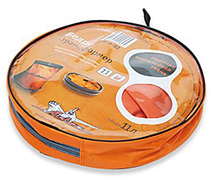Ведро а/м складное 11л оранжевое  AIRLINE  ABO02