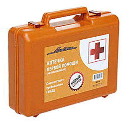 Аптечка автомобильная AIRLINE (Соответствует требованиям ГИБДД) пластиковый футляр (AM02)