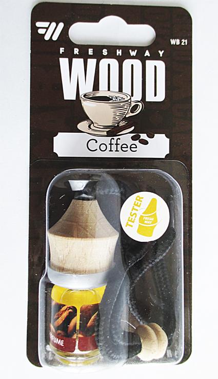 Ароматизатор FRESH WAY WOOD Blister  COFFE  (бочонок) (WB21)