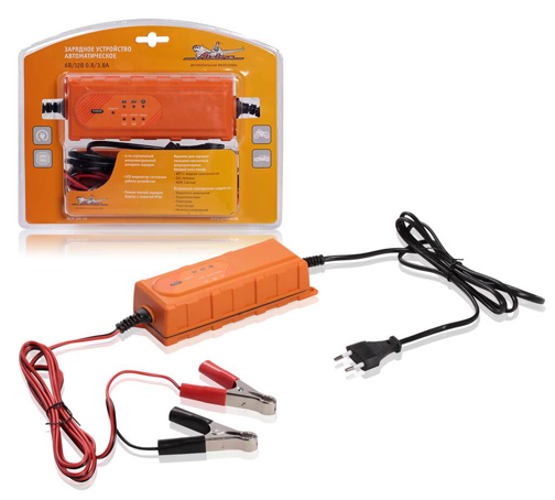 Зарядное устройство AIRLINE (6/12V, 0,8/3,8A) , автоматическое, электронное (ACH5A10)