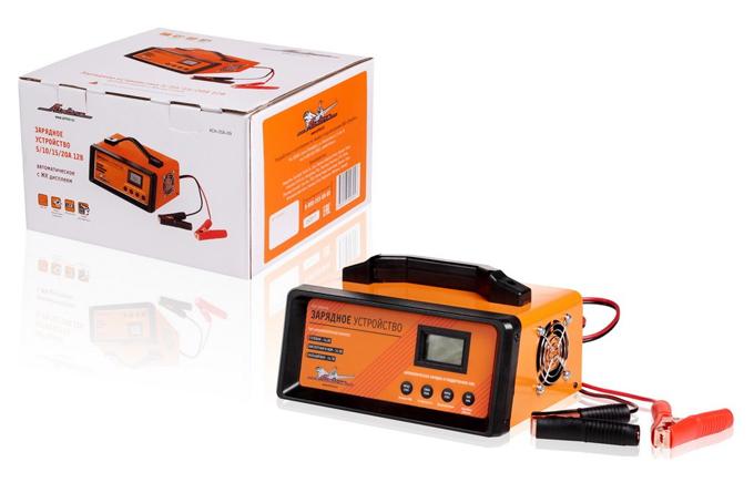 Зарядное устройство AIRLINE (12V, 5/10/15/20A) автоматическое LCD дисплей, импульсное(ACH20AU09) &
