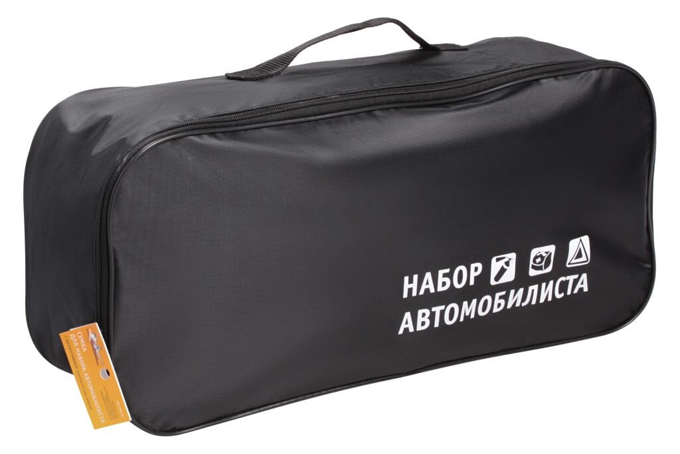 Сумка для ТО Набор автомобилиста (45х15х15) пустая, с шелкографией, черная AIRLINE (ANABAG01)