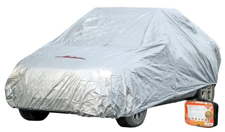 Защитный чехол-тент на автомобиль AIRLINE S (455х186х120см) серый, молния для двери (ACFC01)