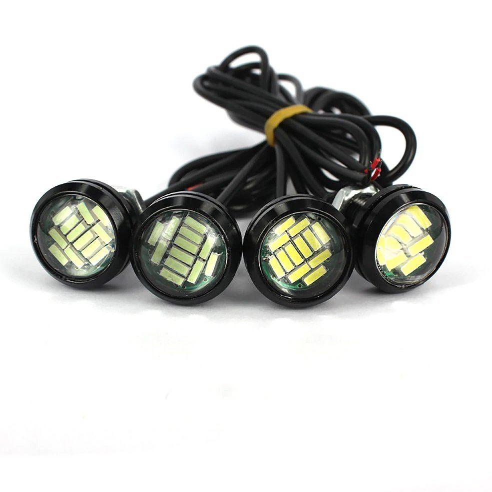 Дневные ходовые огни 16 SMD 23мм 4014 0,5w белый GL4003